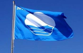 Once banderas azules en la costa onubense.