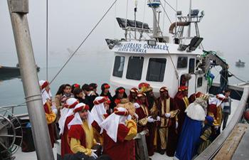 Melchor, Gaspar y Baltasar llegarán en barco a Punta Umbría