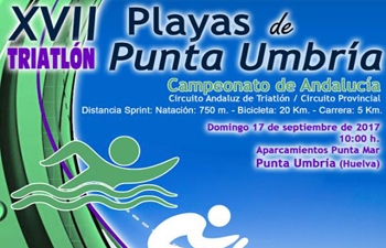 XVII Triatlón Playas de Punta Umbría Septiembre 2017