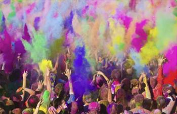 Fiesta Holi de Colores en el Parque de Bellavista