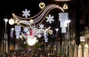 Huelva adelanta el encendido del alumbrado de Navidad