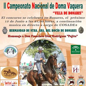 "II Concurso Nacional de Doma Vaquera ""Villa de Bonares"""