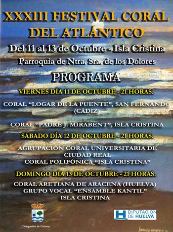 XXXIII Festival Coral del Atlántico Isla Cristina
