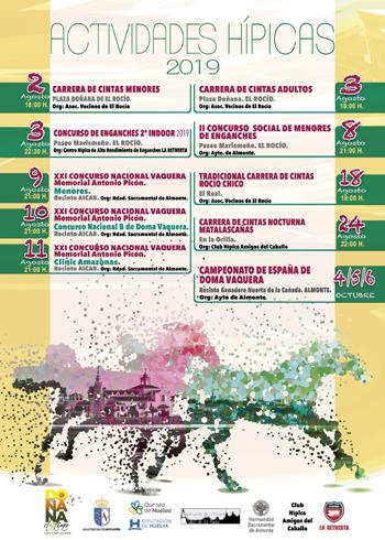Actividades Hípicas Almonte, El Rocío y Matalascañas durante le mes de agosto y octubre.