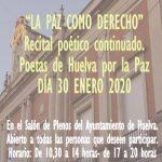 Día de la Paz el próximo jueves con un recital poético continuado en el Salón de Plenos.