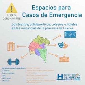 La Diputación coordina con los ayuntamientos de la provincia la cesión de espacios para casos de emergencia.