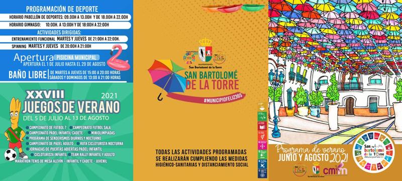 Programa de verano, julio y agosto 2021, en San Bartolomé de la Torre